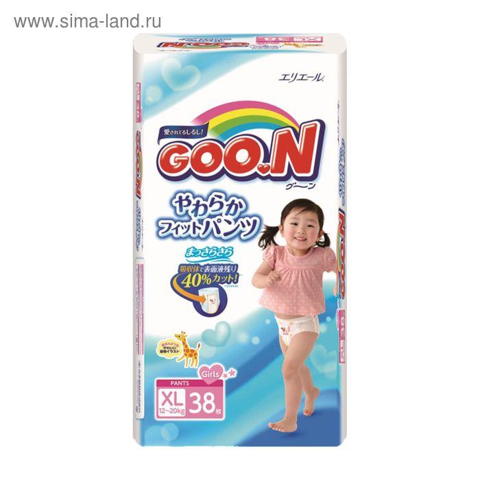 Подгузники-трусики Goo.N для девочек, размер XL (12-20 кг), 38 шт.