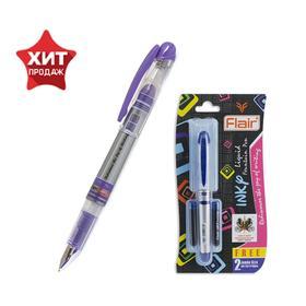 Ручка перьевая Flair Inky +2 штуки запасных картриджей, микс, блистер 45425