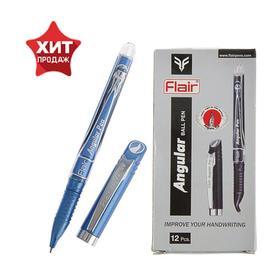 Ручка шариковая Flair Angular для левшей, узел-игла 0.7 , стержень синий 36760