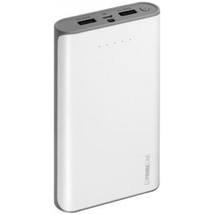 Внешний аккумулятор Prime Line 20000 mAh, белый 2.5A