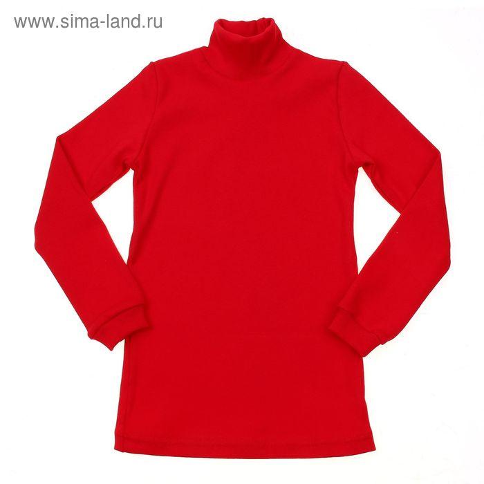 Водолазка для девочки, рост 98-104 см, цвет красный (арт. 1015_Д)