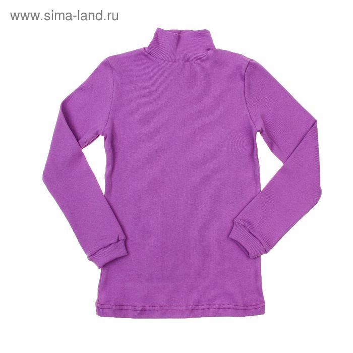 Водолазка для девочки, рост 110-116 см, цвет лиловый (арт. 1015_Д)