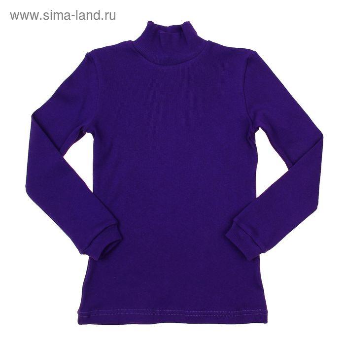Водолазка для мальчика, рост 122-128 см, цвет тёмно-фиолетовый (арт. 1015_Д)
