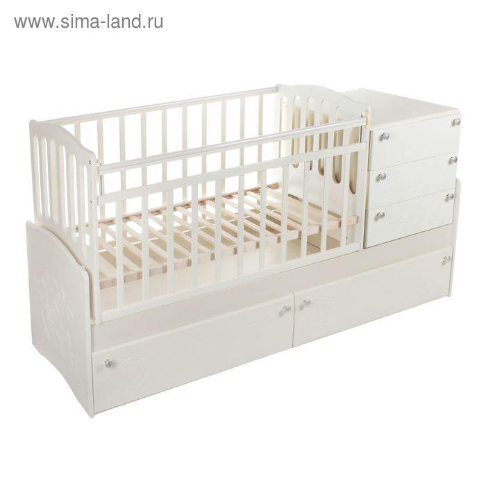 Детская кровать-трансформер Daka Baby 04, цвет ваниль