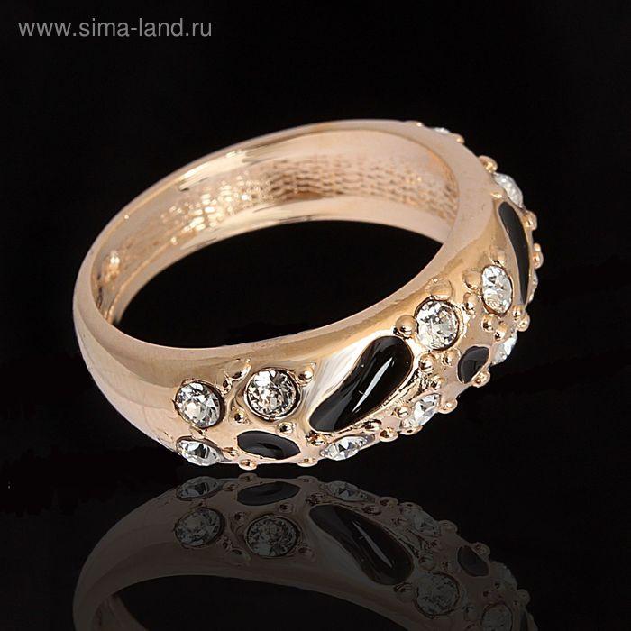 """Кольцо """"Эгида"""", размер 21, цвет чёрный в золоте"""