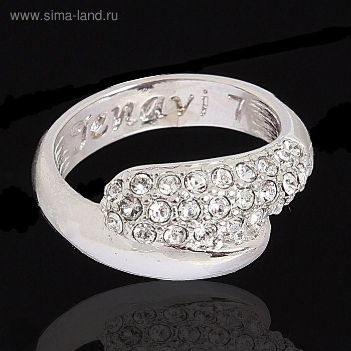 """Кольцо """"Литела"""", размер 19, цвет белый в серебре"""