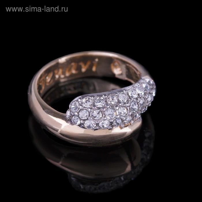 """Кольцо """"Литела"""", размер 18, цвет белый в золоте"""