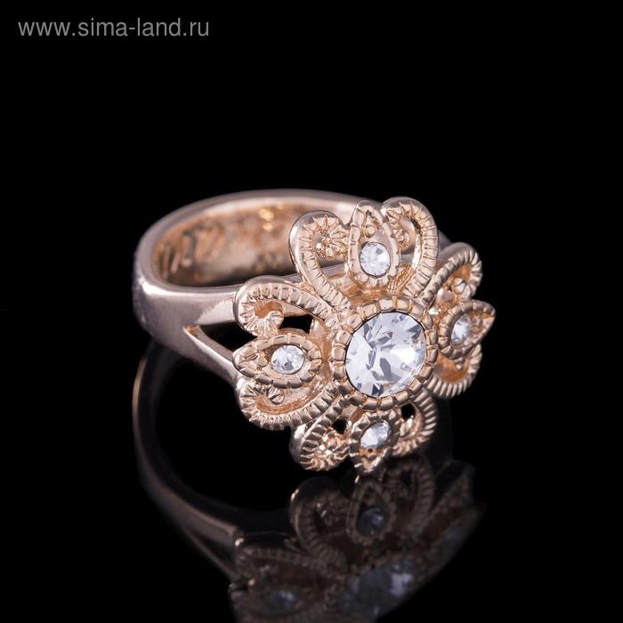 """Кольцо """"Нуэль"""", размер 19, цвет белый в золоте"""