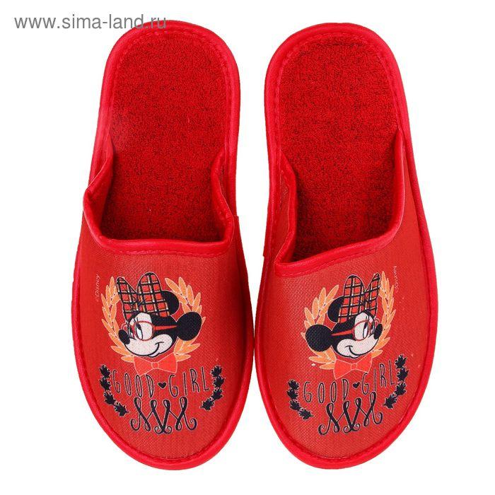 Тапочки Disney, размер 40, цвет красный (арт. BTW70601-34-31)