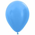 """Шар латексный 12"""", перламутр, набор 25 шт., цвет синий"""