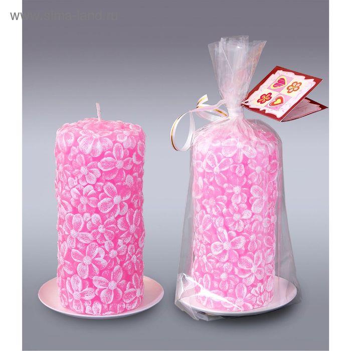 Пенёк цветочный розовый №1