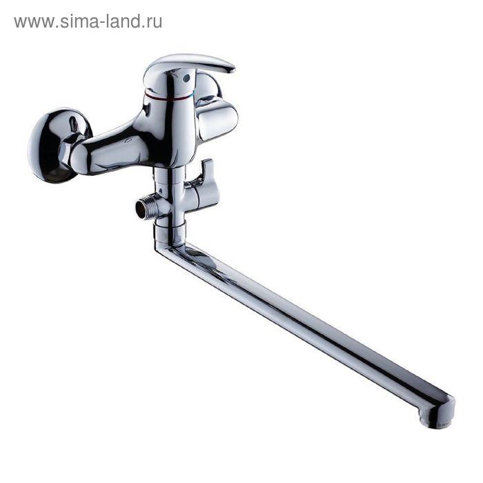 Смеситель для ванны GROSS AQUA Basic 7237257-35L(F), с длинным изливом 350 мм, хром