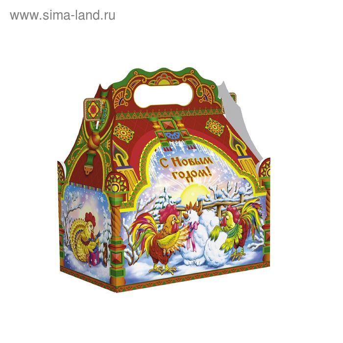 """Подарочная коробка """"Зимние забавы"""", сборная, 20,5х12,3х22 см"""