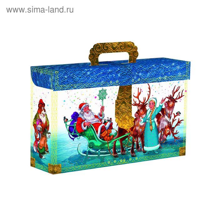 """Подарочная коробка """"Чемоданчик снежный"""", сборная, 32,5х8,5х19,5 см"""