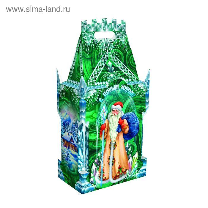 """Подарочная коробка """"Малахит"""", замок большой, сборная, 19,5х11,7х39 см"""