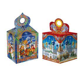 Подарочная коробка 'С Рождеством', сборная, 11,5х11,5х14,5 см, микс Ош