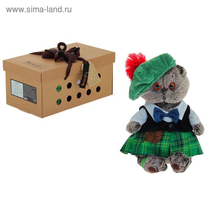 """Мягкая игрушка """"Басик в шотландском костюме"""""""