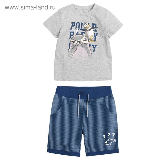 Комплект для мальчиков, 5 лет, цвет Серый BATH372
