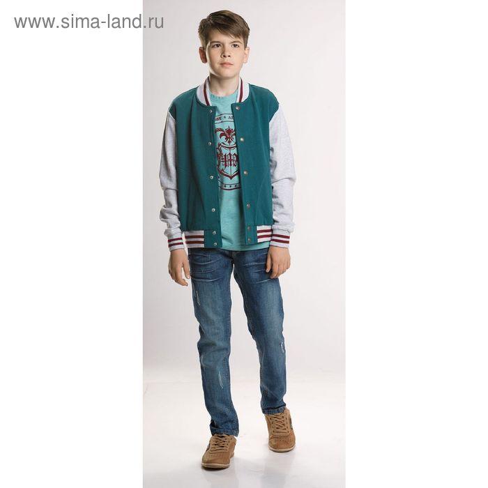 Жакет для мальчиков, 7 лет, цвет Зеленый BJX474
