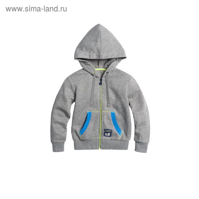 Джемпер для мальчиков, 1 год, цвет Серый BJXK376