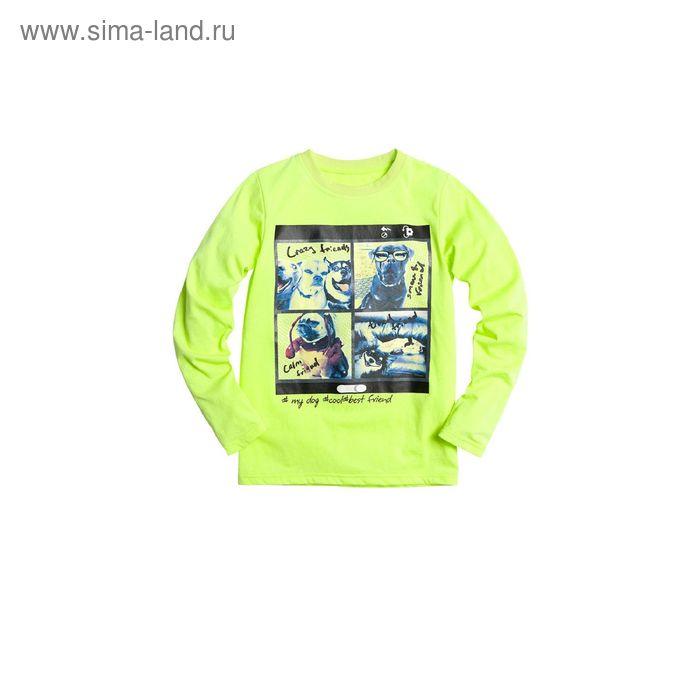 Джемпер для мальчиков, 10 лет, цвет Салатовый BJR476