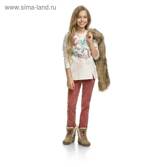 Брюки для девочек, 7 лет, цвет Терракотовый GWP4003/1