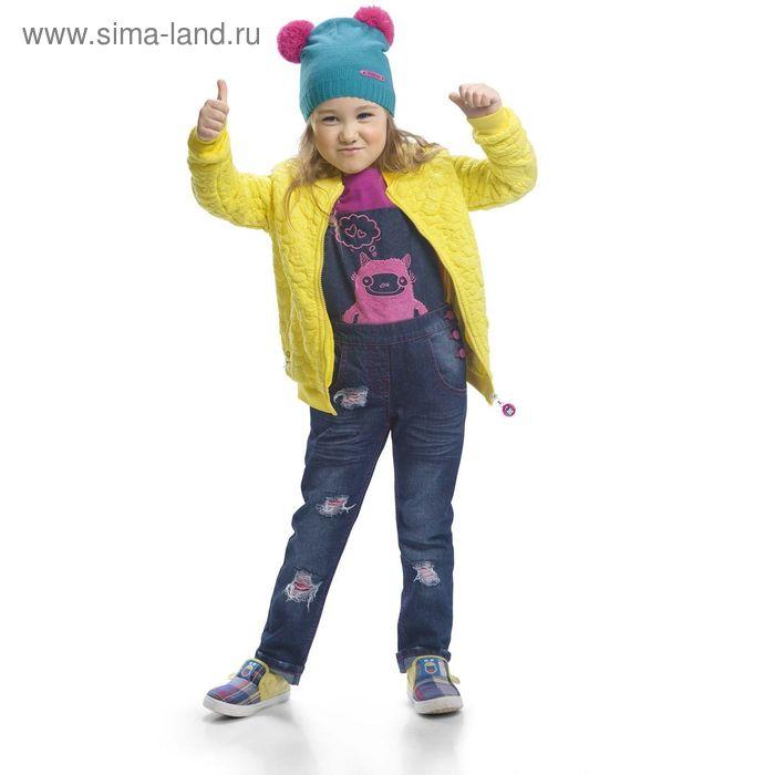 Полукомбинезон для девочек, 5 лет, цвет Синий GWO3002