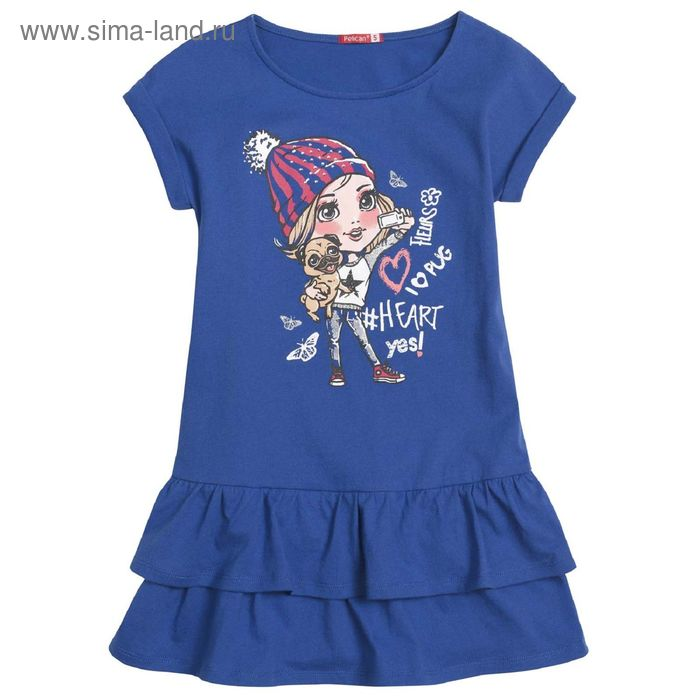Платье для девочек, 3 года, цвет Синий GDT3006
