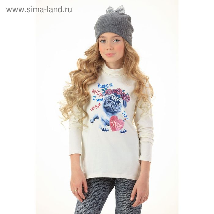 Джемпер для девочек, 10 лет, цвет Молочный GJN4006
