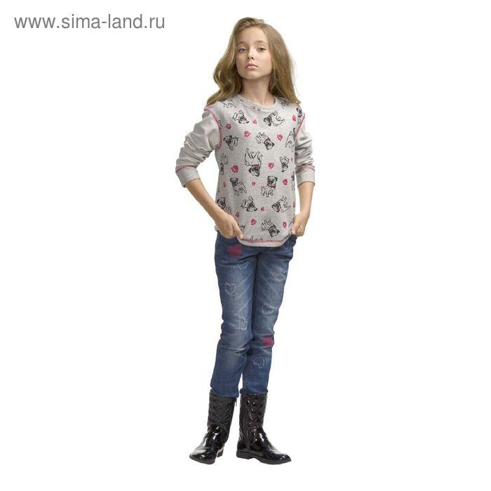 Джемпер для девочек, 7 лет, цвет Серый GJR4006