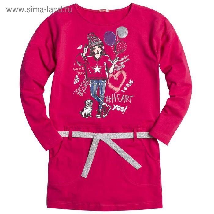 Платье для девочек, 11 лет, цвет Малиновый GDJ4006