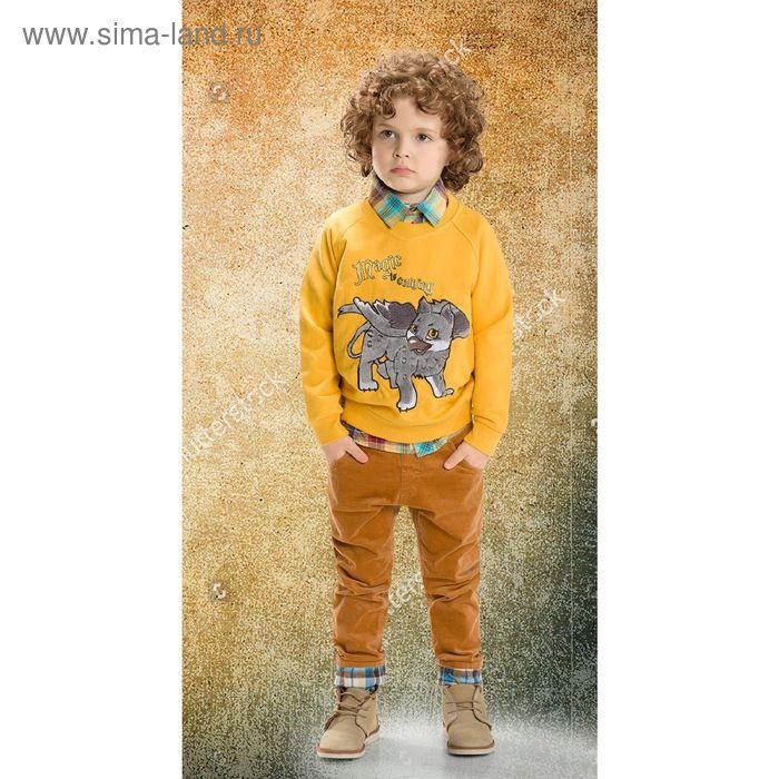 Джемпер для мальчиков, 2 года, цвет Желтый BJR374