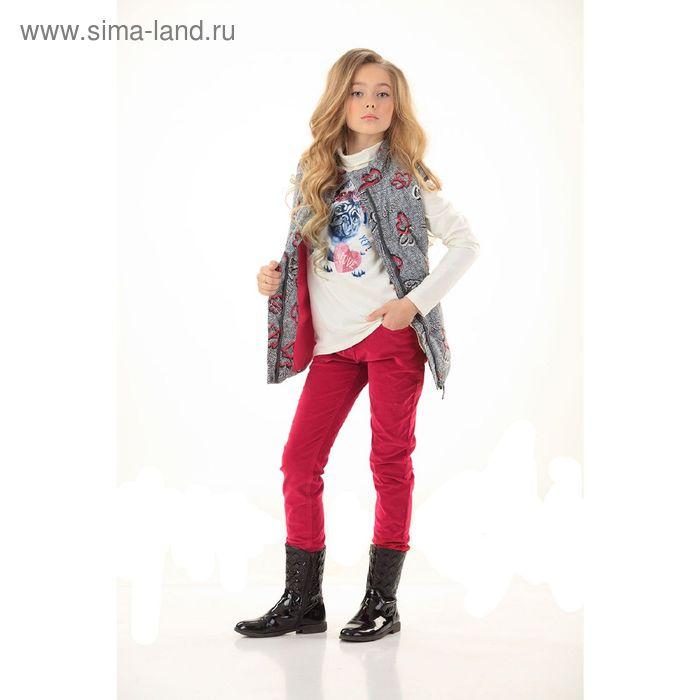 Брюки для девочек, 7 лет, цвет Красный GWP4006/2