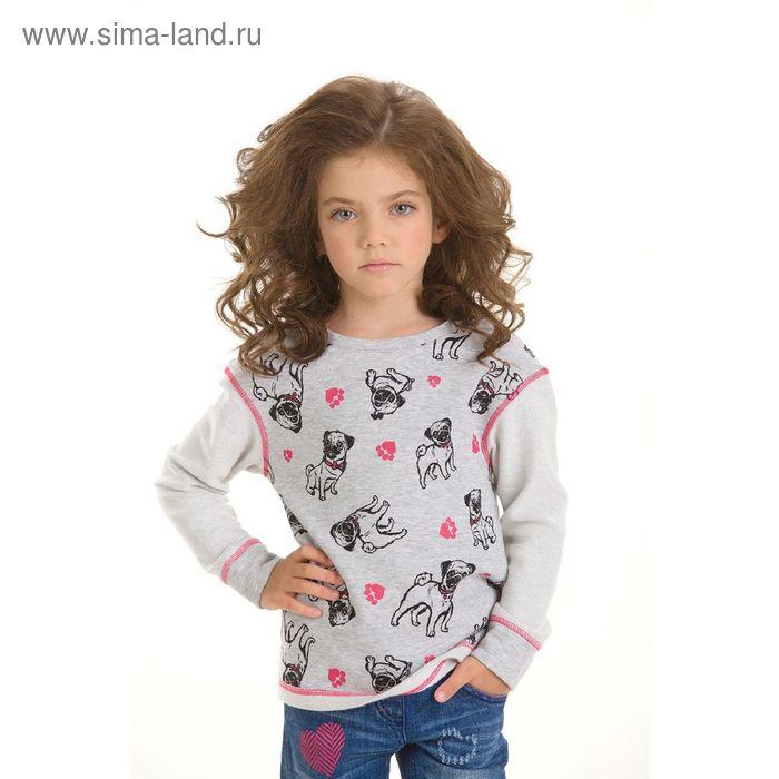 Джемпер для девочек, 5 лет, цвет Серый GJR3006