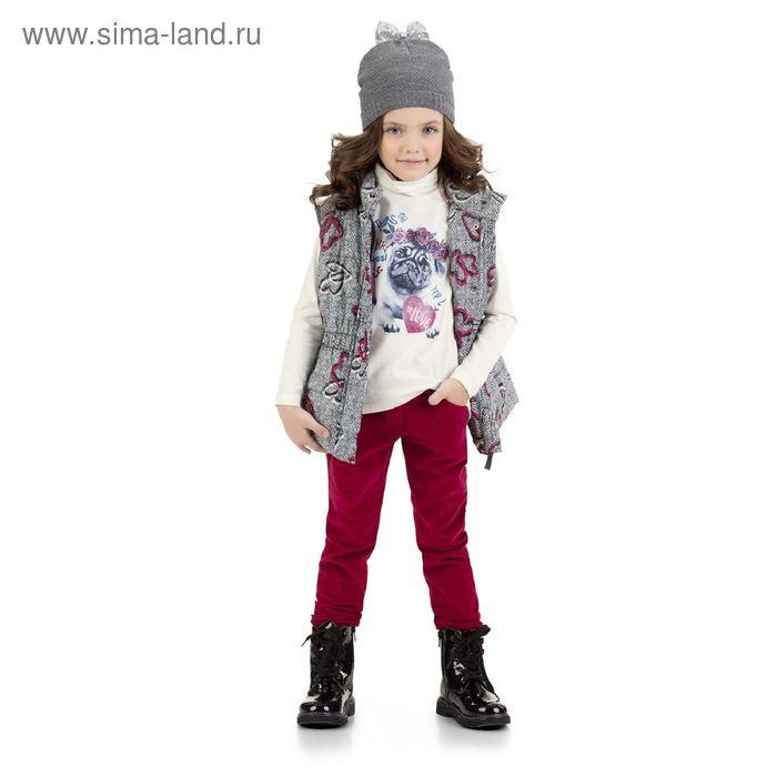 Брюки для девочек, 6 лет, цвет Красный GWP3006/2