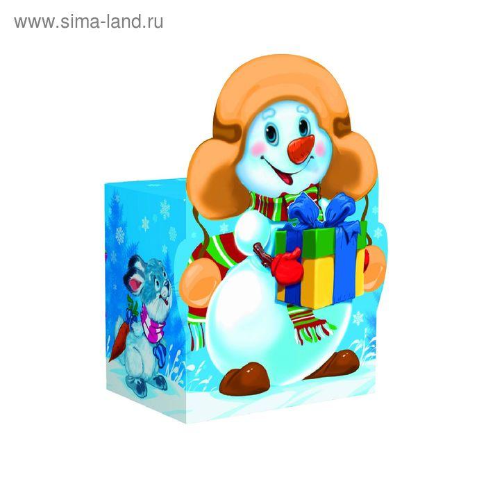 "Подарочная коробка ""Снеговик"", большой, сборная, 14,5х6,5х19,5 см"
