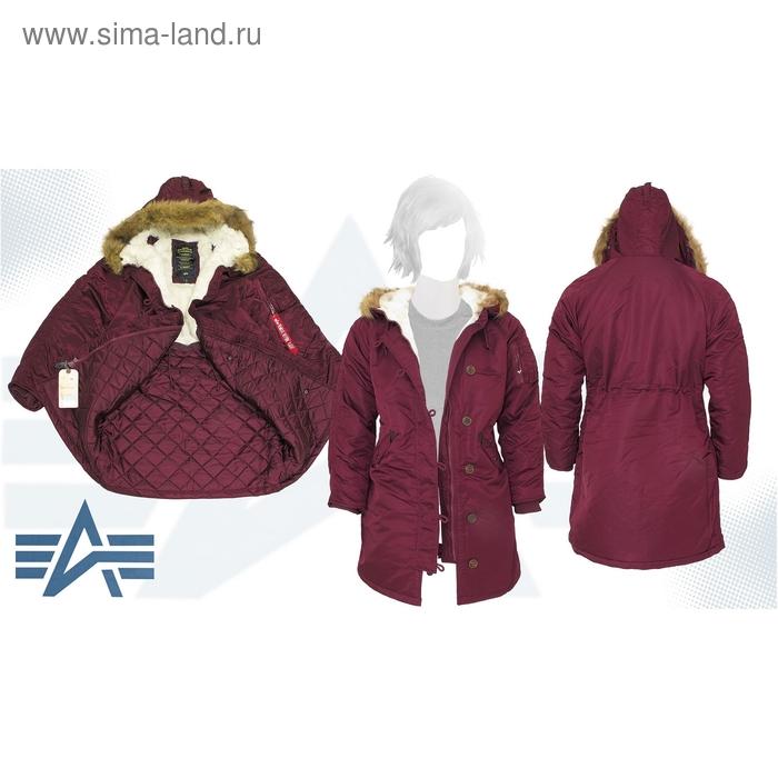 Куртка утеплённая женская Elyse Alpha Industries Maroon, M