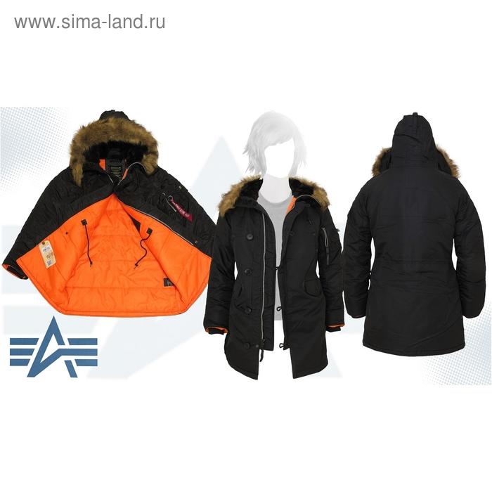 Куртка утеплённая женская N-3B W Parka Alpha Industries Black, XL
