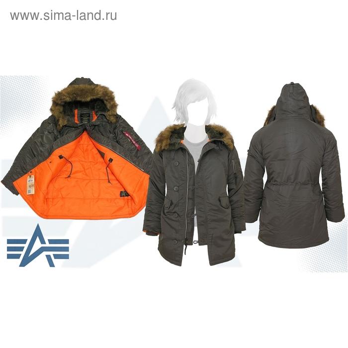 Куртка утеплённая женская N-3B W Parka Alpha Industries Replica Grey, L