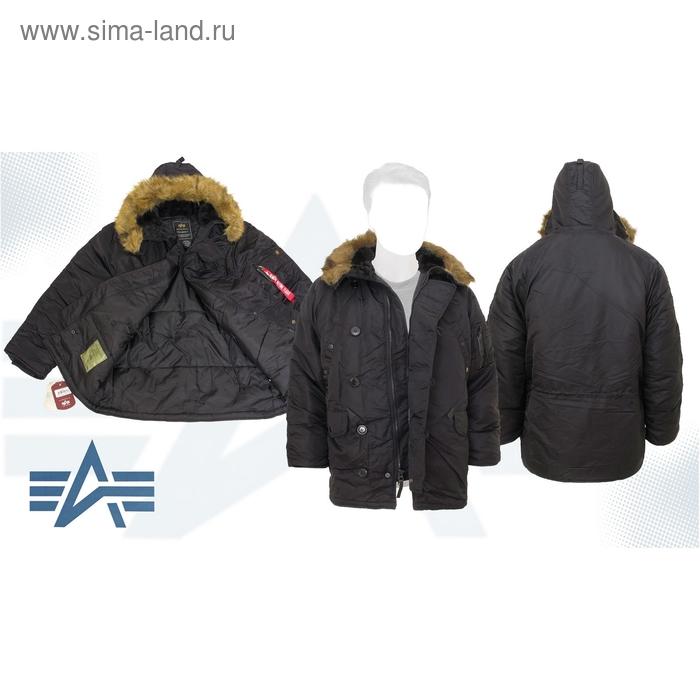Куртка утеплённая N-3B Parka Alpha Industries Black, S