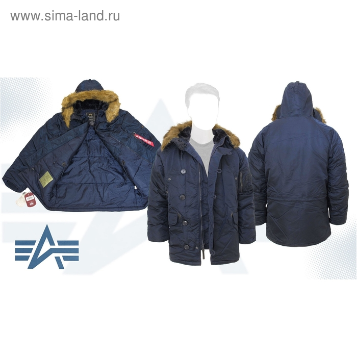 Куртка утеплённая N-3B Parka Alpha Industries Replica Blue, L