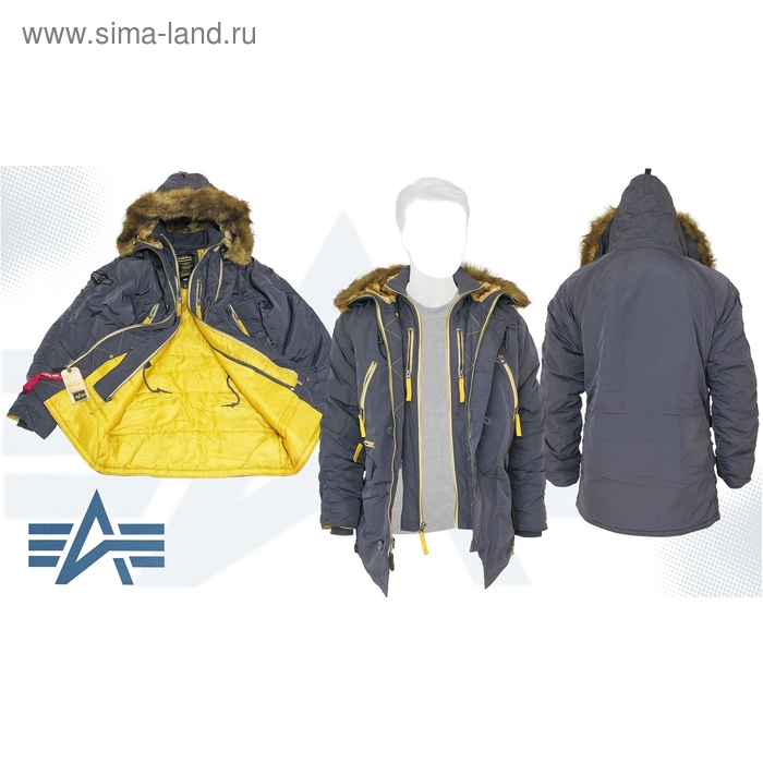 Куртка утеплённая N-3B Inclement Parka Alpha Industries Steel Blue, M