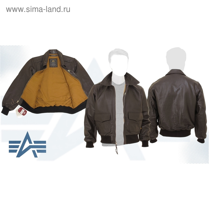 Куртка Leather A-2 (кожа) Alpha Industries Brown, S