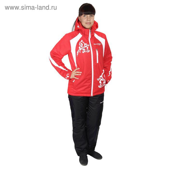 Костюм женский ( куртка+штаны) ONLITOP, куртка-красно/белая; штаны-чёрные (р. 42)