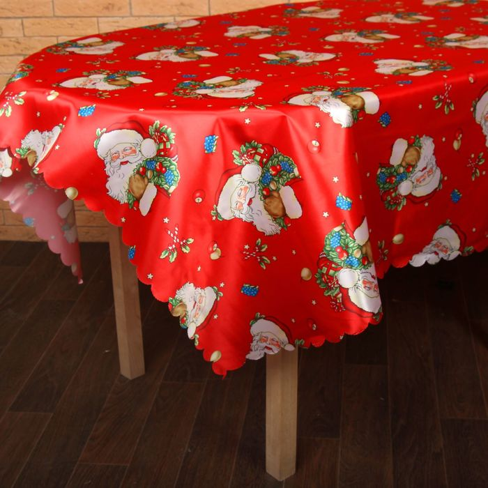 """Столовый комплект НГ """"Праздничная"""", размер 150х180 см, 28х28 см - 6 шт., 100% полиэстер"""