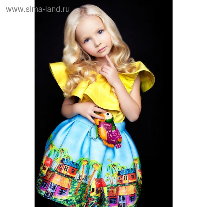 Юбка для девочки Afrika, рост 128 см, цвет голубой Л16-ЮБ-1410_Д