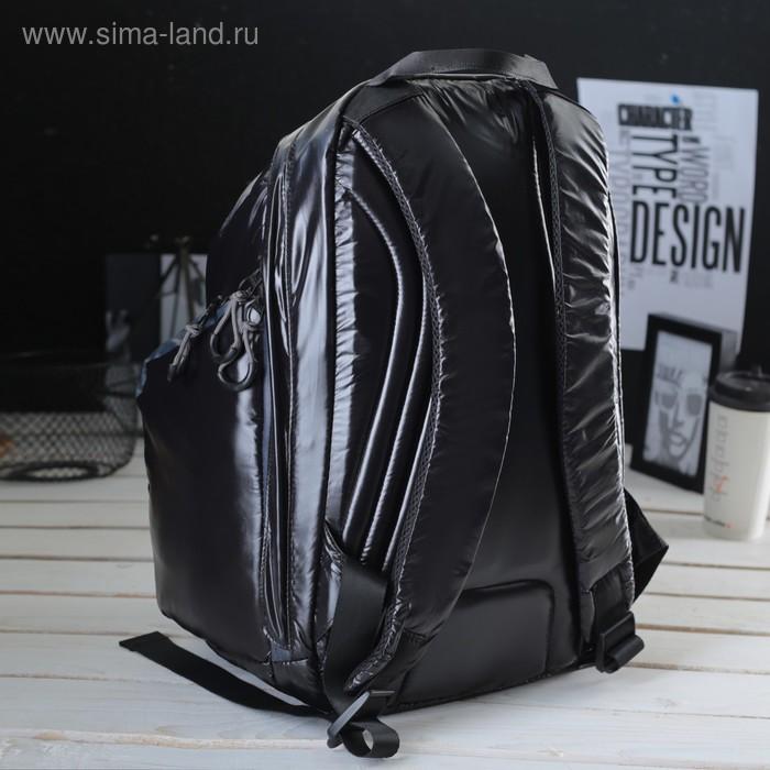 Рюкзак молодёжный на молнии, 1 отдел, 3 наружных кармана, чёрный/серый