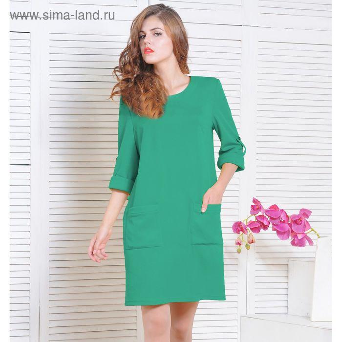 Платье 5135, размер 48, рост 164 см, цвет зеленый