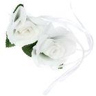 Набор роз для декора, цвет белый