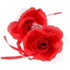 Набор роз для декора, цвет красный